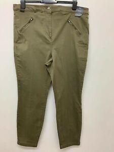 New EX M&S Ladies Khaki Skinny Cargo Pant Trouser SIZES 18 - 28