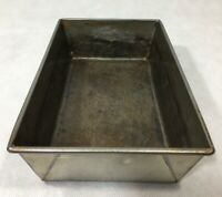 "Vintage Loaf Pan Tin Metal 3"" x 6"" x 10"" Bread Baking Primitive"