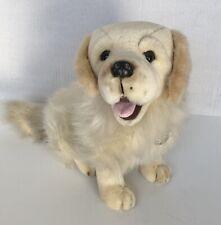 New ListingVintage Tb Toy Realistic Golden Retriever Puppy Dog Plush Stuffed Animal 11�