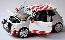 Fiat Abarth 500 R3T 2009 White White 1:24 Motormax