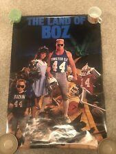 Vintage Brian Bosworth Land of Boz Costacos Poster 1987 NFL.