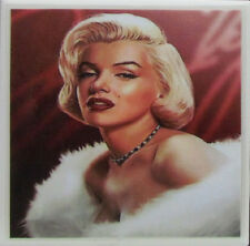 Personalized Natural Stone Ceramic Tile Drink Coasters - Set of 4 - Marilyn 4 C