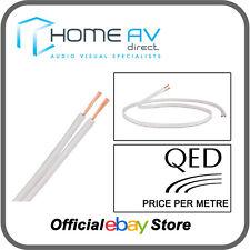QED filamento de 42 Cable de altavoz OFC cobre de alta calidad-Blanco Por Metro - 42/100W