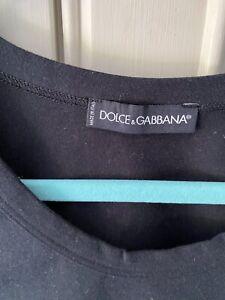 DOLCE & GABBANA D & G Sicily Black Vest Top S/M New