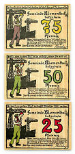 3 diff. Blumenthal Germany notgeld paper money 1921 Au