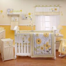 Bright Blossoms 14 Pc.(W/BUMPER & MOBILE) Crib Bedding Set by NoJo (Collection)