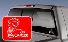 Calvin Piss On Cancer Vinyl Decal Sticker funny Car Window Decal Sticker wall
