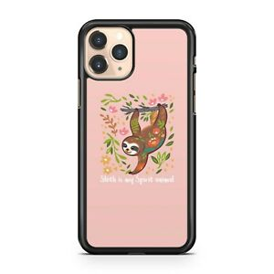 Sloth Is My Spirit Animal Quote Cuddly Sloth Colourful Flowers Phone Case Cover