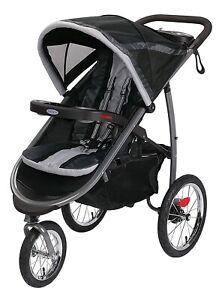 Graco Baby FastAction Fold Jogger All-Terrain 3 Wheel Stroller Gotham NEW