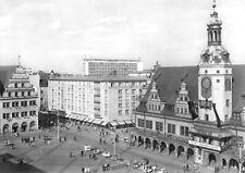 AK, Leipzig, Partie am Markt mit Altem Rathaus, 1967