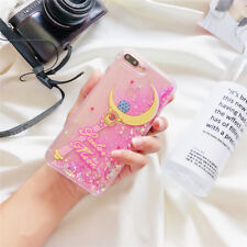 Girly Sailor Moon Bling Glitter Liquid Hard Phone Case for iPhone X 6s 7 8 Plus for iPhone 6 Girl