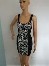 Woman's mini black elasticated dress from h&m size 6 vgc