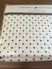 Tommy Hilfiger BLUE POLKA DOTS on White FULL Sheet Set--NWT