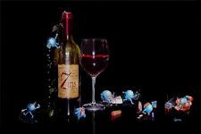 "*Michael Godard-""SEVEN DEADLY ZINS"" Red Wine-Las Vegas-Sins-Art-7*RARE SN Size*"