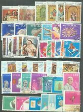 Ecuador 1966-9 fourteen sets (86 stamps) used Sport, Space, Paintings etc