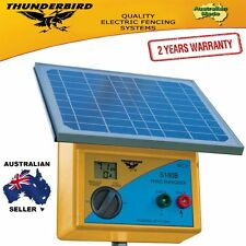 New Thunderbird Solar Electric Fence Energiser. S180B 20 km Self Contained