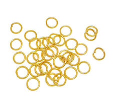 50 pcs Gold plated Open Jump Ring Connector 10mm jewelry findings wholesale DIY