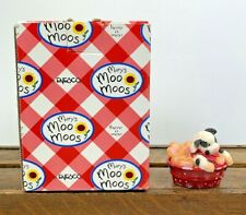 Nos Collectable Mary's Moo Moos Mini Cow Pail With Cookies
