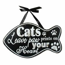 Wooden Cat Paw Wall Plaque 15254B