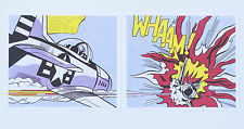 Roy Lichtenstein 'Whaam' 2 x prints! Both panels left & right. Mint!
