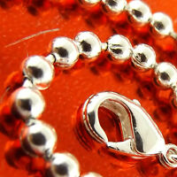 Bracelet Cuff Bangle Genuine Real 925 Sterling Silver S/F Bead Ball Link Design