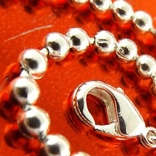FSA335 GENUINE REAL STERLING SILVER SF SOLID BEAD BALL LINK CUFF BRACELET BANGLE