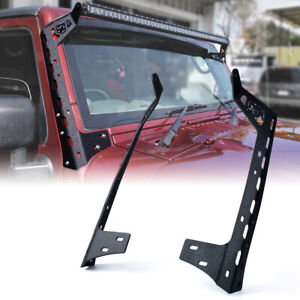 Xprite Front Windshield 50 Inch Light Bar Mounting Brackets For Jeep Wrangler JK