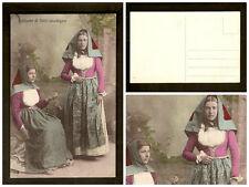 Cartolina Costume Serri Sardegna
