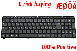 For Samsung R578 R580 R590 E852 Keyboard Nordic Swedish Danish Norwegian Finnish