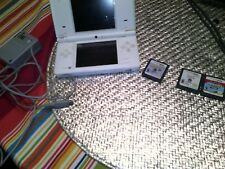 Nintendo DSi Lite White Video Game System w/Charger,  & 3Games