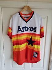 NWT Jeff Bagwell Houston Astros Men's 1982-1993 Style Retro SEWN Jersey Size L