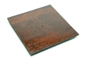 """Burke & James Undrilled Wooden Lens Board 4,5x4,5"""" (114x114mm). Clean."""