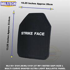 MILITECH NIJ 0101.06 III+ & NIJ 0101.07 RF1 UHMWPE SAPI Ballistic Armor Panel