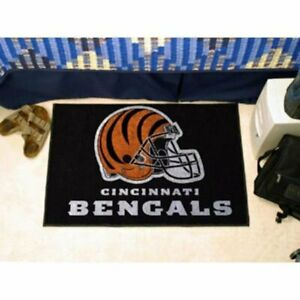 FANMATS NFL Cincinnati Bengals Nylon Face Starter Rug USA QUICK SHIP NWT