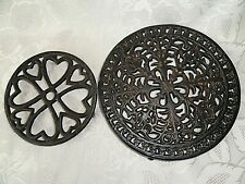Two Vintage   Metal Trivet D - 21 cm. Hot Pot Rest