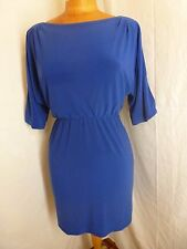 JESSICA SIMPSON Blue Cold Shoulders Cocktail Party Bodycon Dress Sz Small