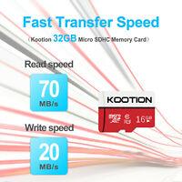 1/2/3/5pcs 16GB Micro SD TF Card SDXC Flash Class 10 Memory Card 70MB/s