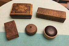 LOT OF VINTAGE AND ANTIQUE TRINKET BOXES, JEWELRY BOXES, MUSIC BOX
