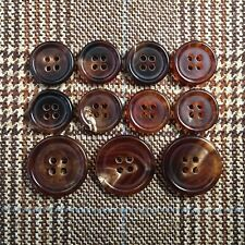 Natural Buffalo Horn Sport Coat Buttons Brown Blazer Button 11 pc Set