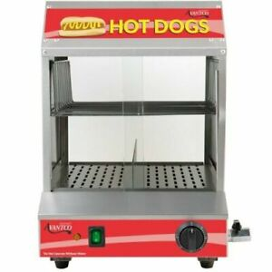 Hot Dog Steamer Warmer Machine W/ Indicator Light Food Bun Commercial Electric