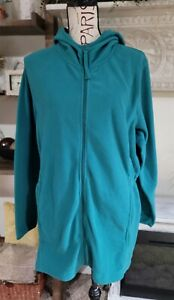 Womans Teal Within Fleece Full Zip Up Jacket With Hood Plus Size 18/20