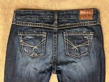 "BKE Buckle Starlite Thick Stitched Distressed Women Crop Jeans Size 29 x 26"" EUC"