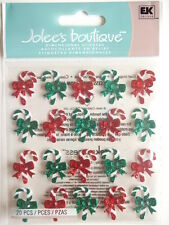 JOLEE'S BOUTIQUE STICKERS - CANDY CANE REPEATS with gems Christmas