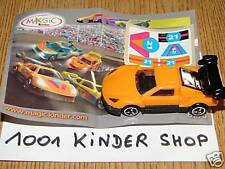 KINDER NV077 NV 77 CAR + STICKERS + BPZ VARIANTE N°11