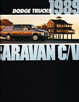 1989 Dodge Caravan Cargo Deluxe Sales Brochure Book