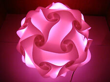 Puzzle lampshade vintage lampshade puzzle lamp pink 28 cm Diameter UK seller