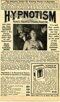 1950 small Print Ad of Practical Hypnotism Magnetic Healing & Personal Magnetism