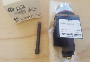 Allen Bradley Small Round Illuminated Switch 2-Pos Maintained 24V | 800MR-24HX2B