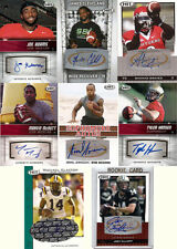 Lot of 8 Rookie Autographs Signed Football Cards