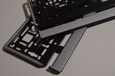 2 x Chrom Optik Kennzeichenhalter Kennzeichenrahmen  Halter Neu Silber MATT
